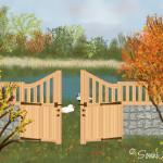 Idylle hinter dem Zaun